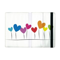 Heart Flowers Apple Ipad Mini Flip Case by magann