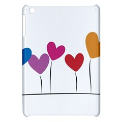 Heart Flowers Apple Ipad Mini Hardshell Case by magann