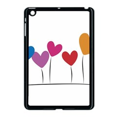 Heart Flowers Apple Ipad Mini Case (black) by magann
