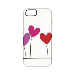 Heart Flowers Apple Iphone 5 Classic Hardshell Case (pc+silicone)