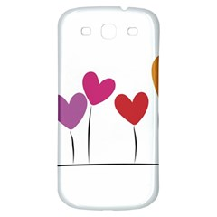 Heart Flowers Samsung Galaxy S3 S Iii Classic Hardshell Back Case by magann
