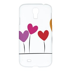 Heart Flowers Samsung Galaxy S4 I9500 Hardshell Case by magann