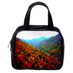 Through The Mountains Classic Handbag (one Side) by Majesticmountain