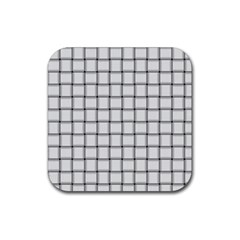 White Weave Drink Coasters 4 Pack (square)