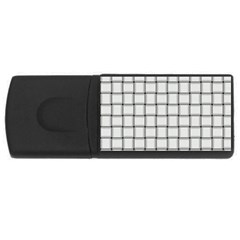 White Weave 4gb Usb Flash Drive (rectangle) by BestCustomGiftsForYou