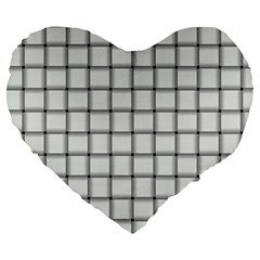 White Weave 19  Premium Heart Shape Cushion by BestCustomGiftsForYou
