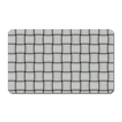 Gray Weave Magnet (rectangular) by BestCustomGiftsForYou