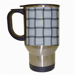 Gray Weave Travel Mug (white) by BestCustomGiftsForYou
