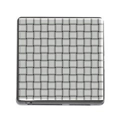 Gray Weave Memory Card Reader With Storage (square) by BestCustomGiftsForYou