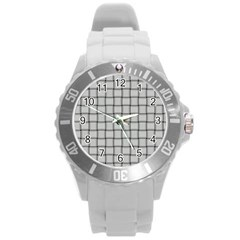 Gray Weave Plastic Sport Watch (large) by BestCustomGiftsForYou