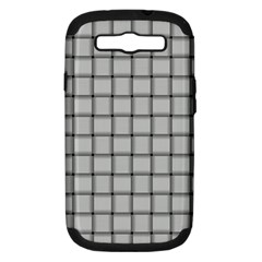 Gray Weave Samsung Galaxy S Iii Hardshell Case (pc+silicone) by BestCustomGiftsForYou