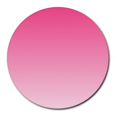French Rose To Piggy Pink Gradient 8  Mouse Pad (round)