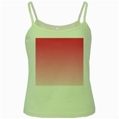 French Rose To Piggy Pink Gradient Green Spaghetti Tank