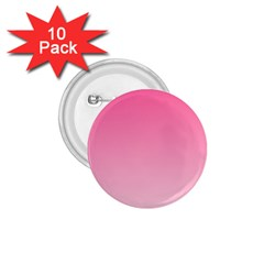 French Rose To Piggy Pink Gradient 1 75  Button (10 Pack)