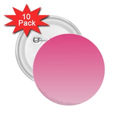 French Rose To Piggy Pink Gradient 2 25  Button (10 Pack) by BestCustomGiftsForYou