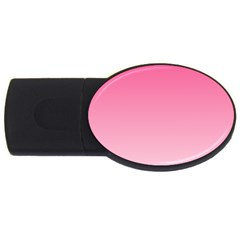 French Rose To Piggy Pink Gradient 4gb Usb Flash Drive (oval)