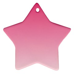 French Rose To Piggy Pink Gradient Star Ornament (two Sides)