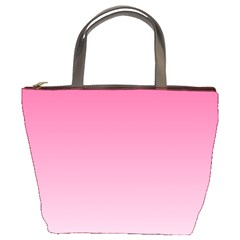 French Rose To Piggy Pink Gradient Bucket Bag