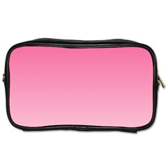 French Rose To Piggy Pink Gradient Travel Toiletry Bag (two Sides)