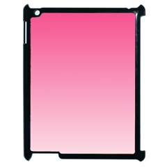French Rose To Piggy Pink Gradient Apple Ipad 2 Case (black)