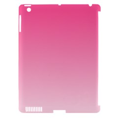 French Rose To Piggy Pink Gradient Apple Ipad 3/4 Hardshell Case (compatible With Smart Cover)
