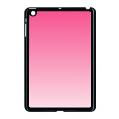 French Rose To Piggy Pink Gradient Apple Ipad Mini Case (black)