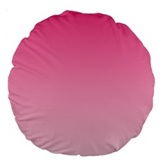 French Rose To Piggy Pink Gradient 18  Premium Round Cushion