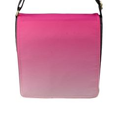 French Rose To Piggy Pink Gradient Flap Closure Messenger Bag (large)