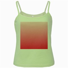 Piggy Pink To French Rose Gradient Green Spaghetti Tank