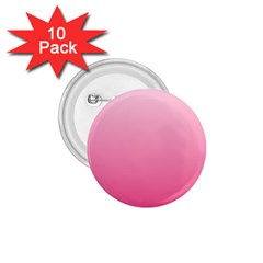 Piggy Pink To French Rose Gradient 1 75  Button (10 Pack)