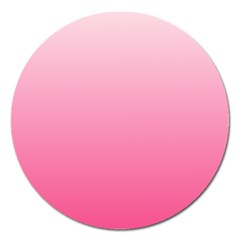 Piggy Pink To French Rose Gradient Magnet 5  (round) by BestCustomGiftsForYou