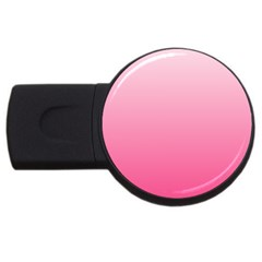 Piggy Pink To French Rose Gradient 2gb Usb Flash Drive (round)