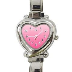 Piggy Pink To French Rose Gradient Heart Italian Charm Watch