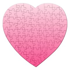 Piggy Pink To French Rose Gradient Jigsaw Puzzle (heart) by BestCustomGiftsForYou