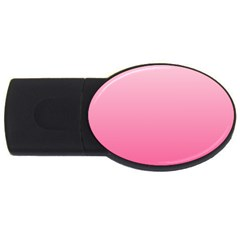 Piggy Pink To French Rose Gradient 4gb Usb Flash Drive (oval)