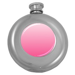 Piggy Pink To French Rose Gradient Hip Flask (round)