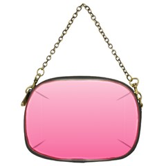 Piggy Pink To French Rose Gradient Chain Purse (two Side)