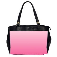 Piggy Pink To French Rose Gradient Oversize Office Handbag (two Sides)