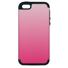 Piggy Pink To French Rose Gradient Apple Iphone 5 Hardshell Case (pc+silicone)