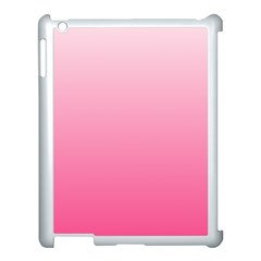Piggy Pink To French Rose Gradient Apple Ipad 3/4 Case (white)