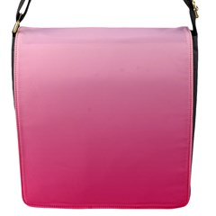 Piggy Pink To French Rose Gradient Flap Closure Messenger Bag (small)