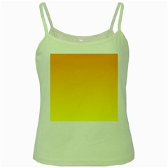 Chrome Yellow To Yellow Gradient Green Spaghetti Tank
