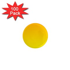 Chrome Yellow To Yellow Gradient 1  Mini Button Magnet (100 Pack)