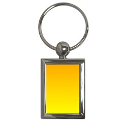 Chrome Yellow To Yellow Gradient Key Chain (rectangle)