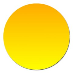 Chrome Yellow To Yellow Gradient Magnet 5  (round)