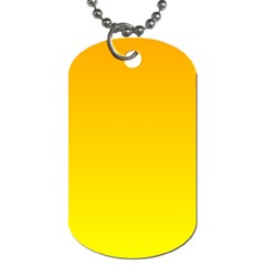 Chrome Yellow To Yellow Gradient Dog Tag (one Sided)