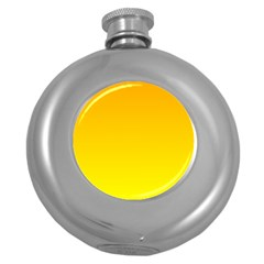 Chrome Yellow To Yellow Gradient Hip Flask (round)
