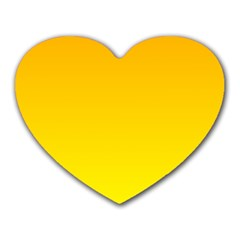 Chrome Yellow To Yellow Gradient Mouse Pad (heart)