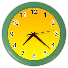 Chrome Yellow To Yellow Gradient Wall Clock (color)