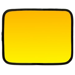 Chrome Yellow To Yellow Gradient Netbook Case (large)